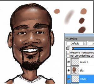 A caricature of Kevin Durant