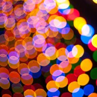 Lights add-on, colorful light circles.